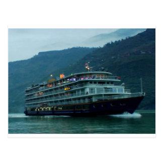 River YANGTZE - China  Vintage BOAT CRUISE Postcard