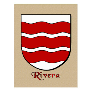 Rivera Family Heraldic Shield Postcard
