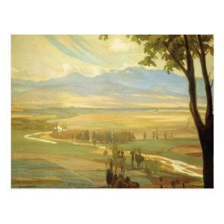 """Rivera's """"Avila Morning"""" postcard"""