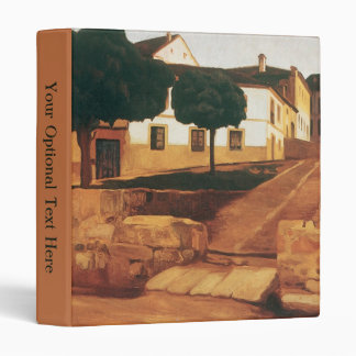 "Rivera's ""Street in Avila"" art binder"