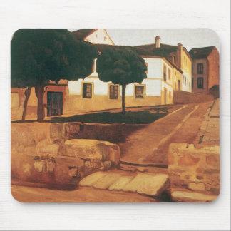 """Rivera's """"Street in Avila"""" mousepad"""