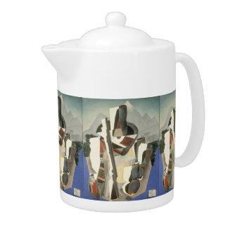 """Rivera's """"Zapata-style Landscape"""" teapot"""