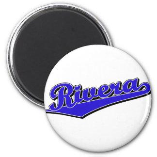 Rivera script logo in blue magnet