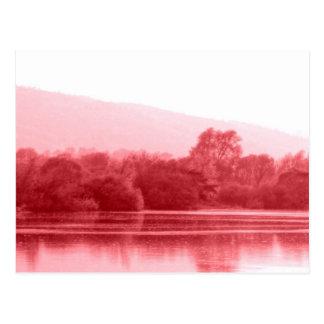 Riverbank de la frambuesa tarjeta postal