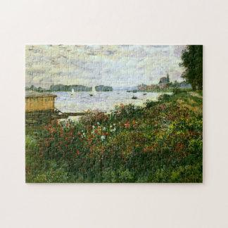 Riverbank en la bella arte de Argenteuil Monet Puzzle