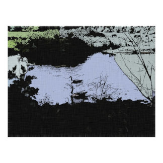 Riverbank Geese in Ink Value Poster Paper (Matte)