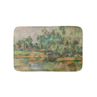 Riverbank por la estera de baño de Paul Cezanne