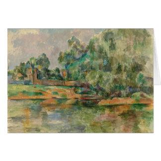 Riverbank por la tarjeta de felicitación en blanco
