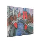 Riverbank rojo de Ernst Kirchner- Elisabeth, Berlí Impresión En Lona Estirada