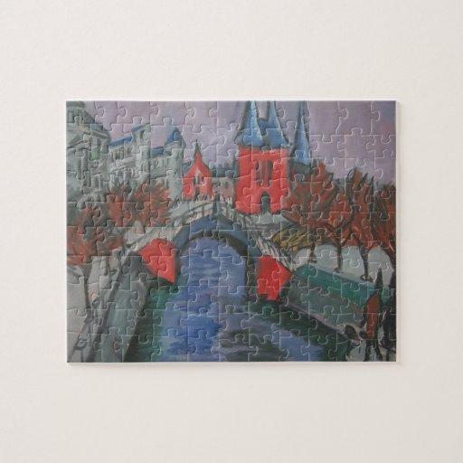 Riverbank rojo de Ernst Kirchner- Elisabeth, Berlí Rompecabeza
