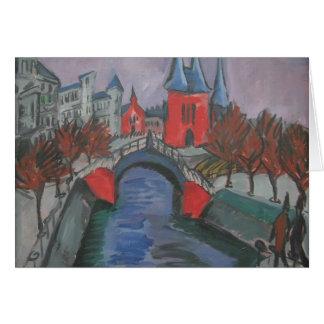 Riverbank rojo de Ernst Kirchner- Elisabeth, Berlí Felicitaciones