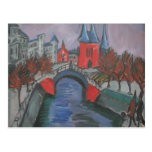 Riverbank rojo de Ernst Kirchner- Elisabeth, Berlí Tarjeta Postal