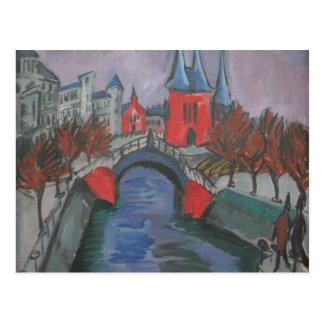Riverbank rojo de Ernst Kirchner- Elisabeth, Berlí Tarjetas Postales