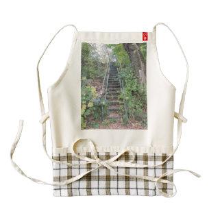Riverbank Stairs Zazzle HEART Apron