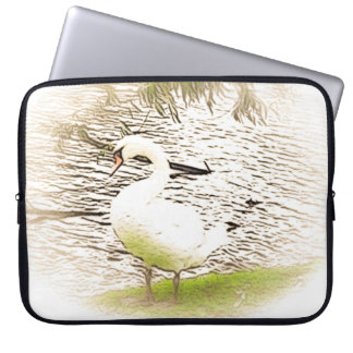Riverbank Swan Neoprene Laptop Sleeve
