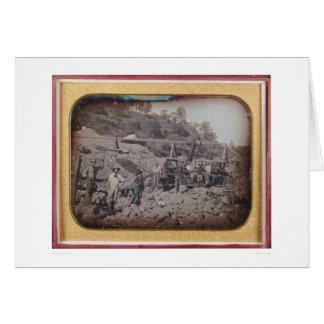 Riverbed mining scene...  (40069) card
