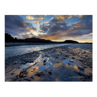 Riverbed of Franz Josef Glacier running into Postcard