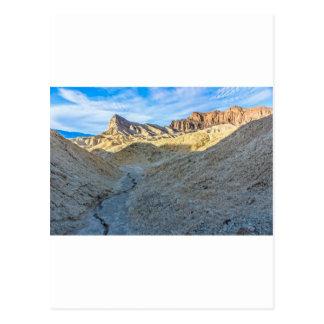 Riverbed view of Zabriskie Point Landscape Format Postcard