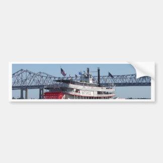 Riverboat Car Bumper Sticker