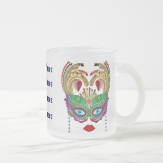 Riverboat Casino Queen Please View Artist Comments Frosted Glass Coffee Mug