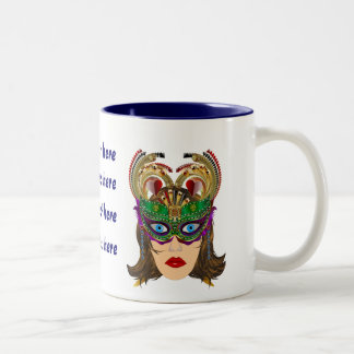 Riverboat Casino Queen Please View Artist Comments Two-Tone Coffee Mug