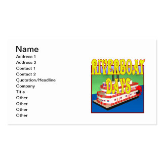 Riverboat Days Double-Sided Standard Business Cards (Pack Of 100)