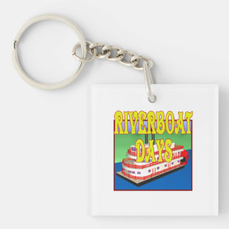 Riverboat Days Square Acrylic Key Chain
