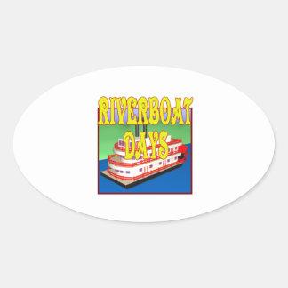 Riverboat Days Oval Sticker