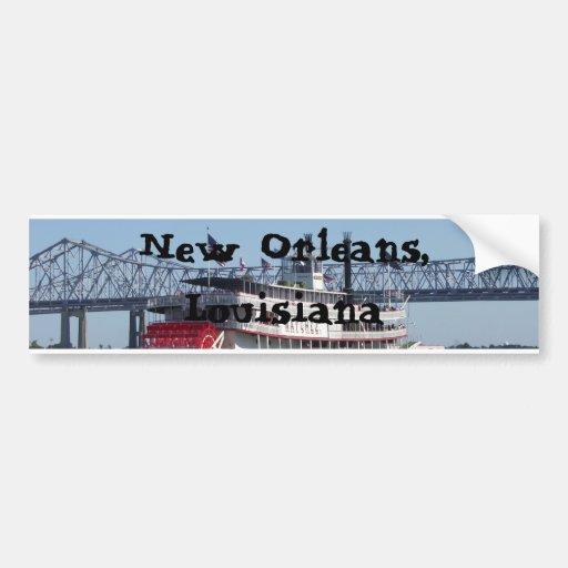 Riverboat in New Orleans Car Bumper Sticker