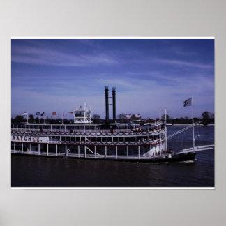 Riverboat Natchez on Mississippi Poster
