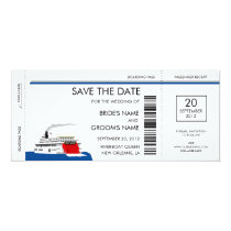 Riverboat Wedding Save the Date Cards