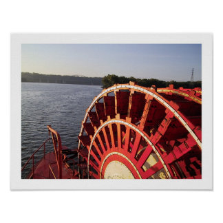 Riverboat Wheel Poster
