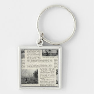 Riverdale Prune Orchard, California Keychain