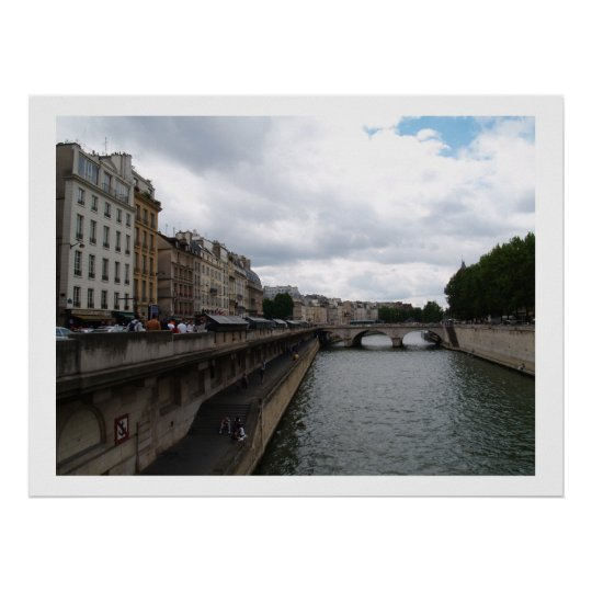riverfront cityscape poster