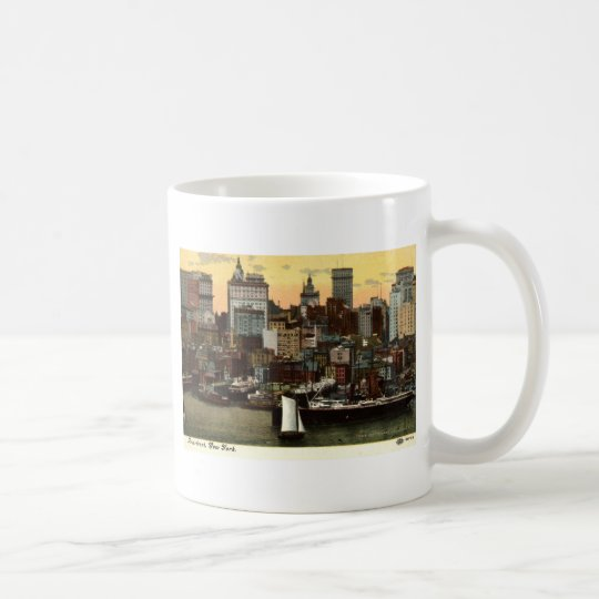 Riverfront New York City Vintage c1905 Coffee Mug