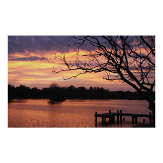 Riverhills Sunset Poster