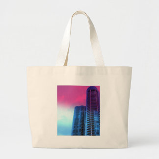 Riverhouse Fort Lauderdale with pink tinted sky Large Tote Bag