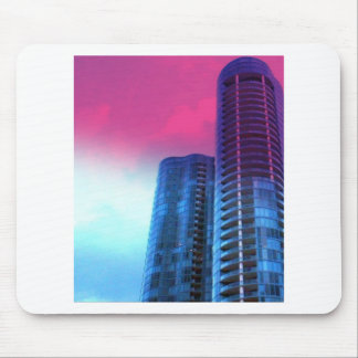 Riverhouse Fort Lauderdale with pink tinted sky Mouse Pad