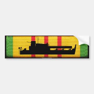 Riverine Inf ATC Tango Boat on VSM Ribbon Bumper Sticker