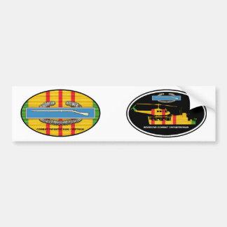 Riverine Infantry Tango Boat CIB Euro-Oval Pair Bumper Sticker