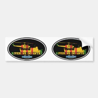 Riverine Infantry Vietnam ATC(H) CIB Euro-Stickers Bumper Sticker