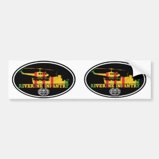 Riverine Infantry Vietnam ATC(H) CMB Euro-Stickers Car Bumper Sticker
