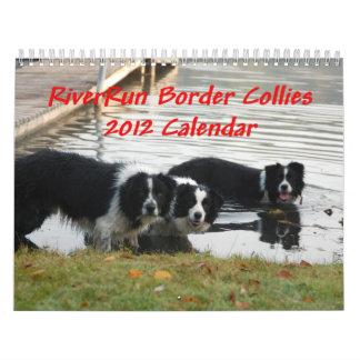 RiverRun Border Collies 2012 Calendar