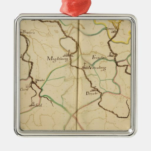 Rivers and Valleys of Germany Metal Ornament