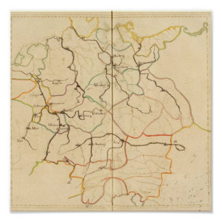 Rivers and Valleys of Germany Print
