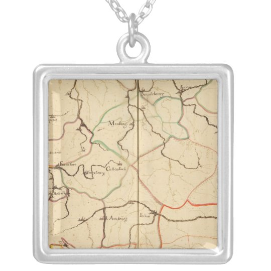 Rivers and Valleys of Germany Silver Plated Necklace