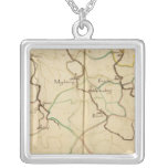 Rivers and Valleys of Germany Square Pendant Necklace