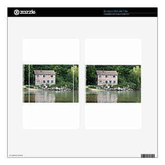 Rivers Edge home in the trees Kindle Fire Skins