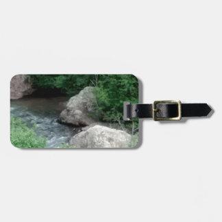 rivers edge luggage tag