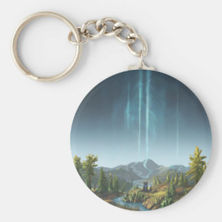 Rivers Flowing To The Sky Keychain